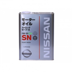 Масло моторное Nissan Strong Save X SN 0W20, 4л